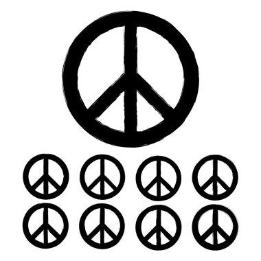 Monochrome peace symbols