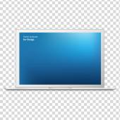 modern laptop elszigetelt fehér