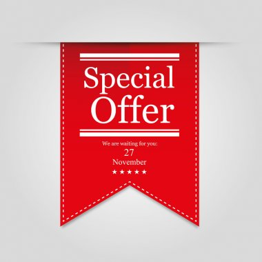 red ribbon Special offer