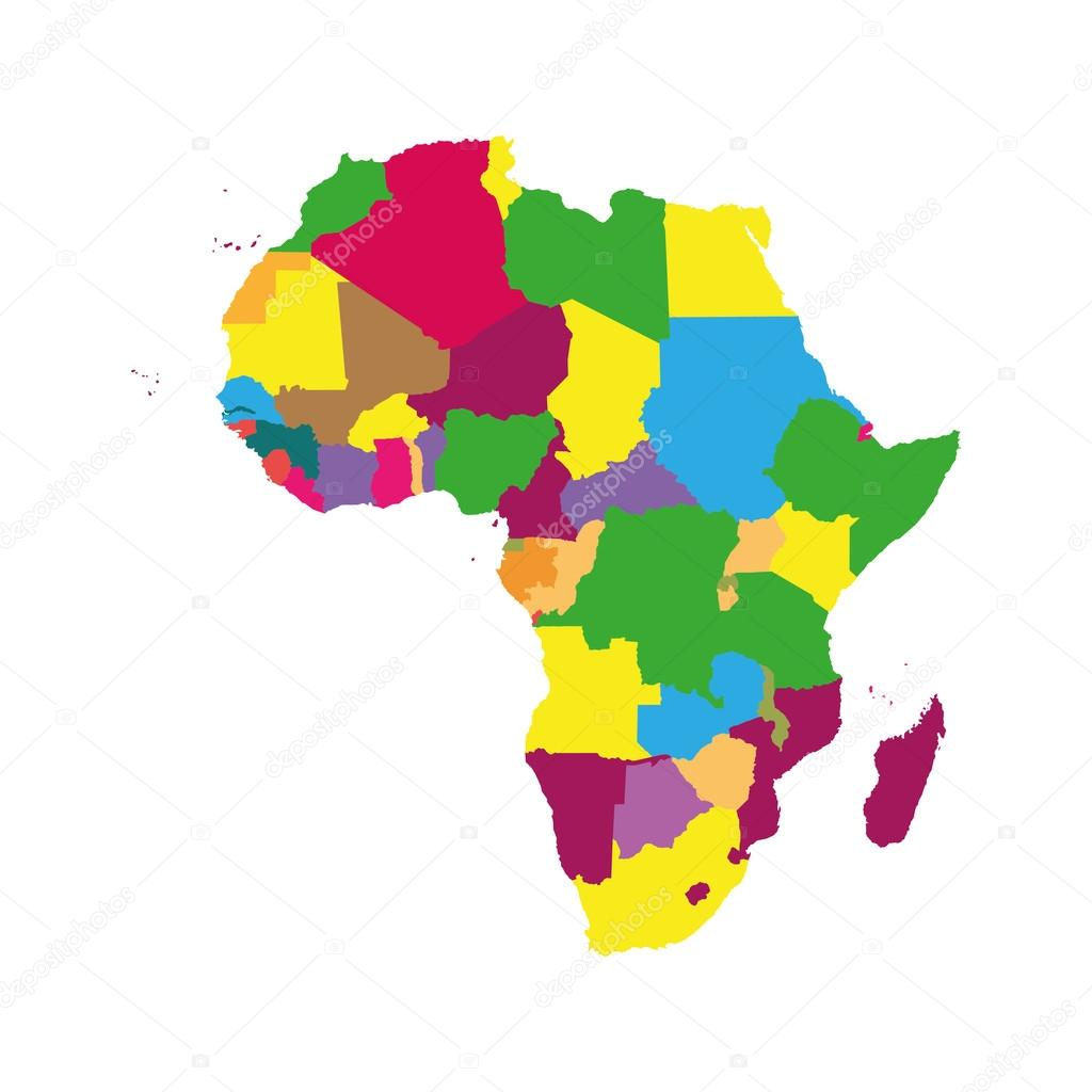 Color Africa Map Stock Vector C 4zeva 98893376