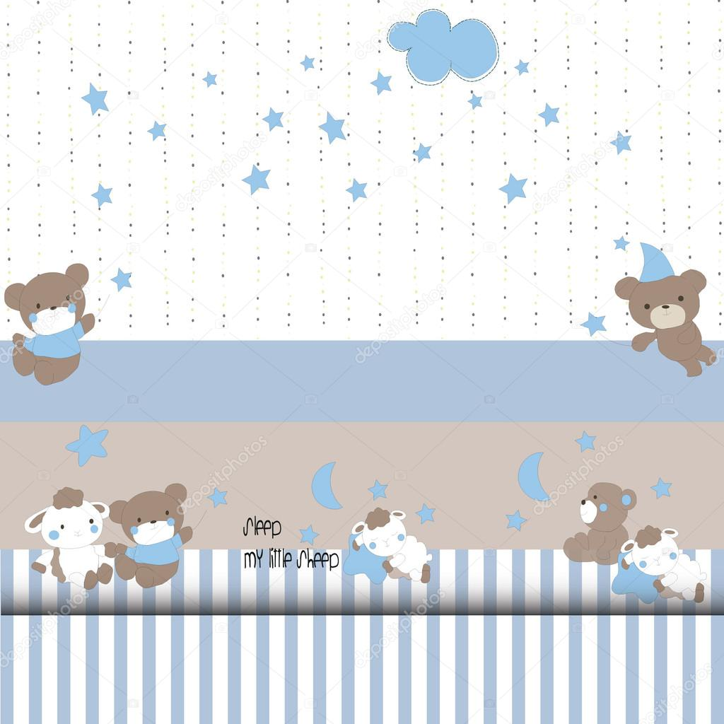 premium selection e58e6 85adf Baby-Design-Elemente patterns bear, lamb — Stock Vector ...