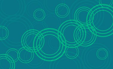 Abstract green circles background