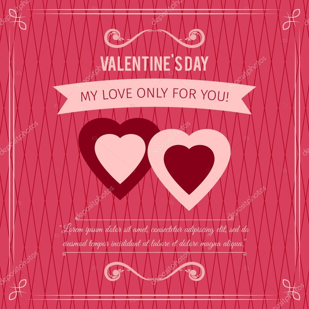 Feliz Dia De San Valentin Fondo Abstracto Con Corazones Y Frases De