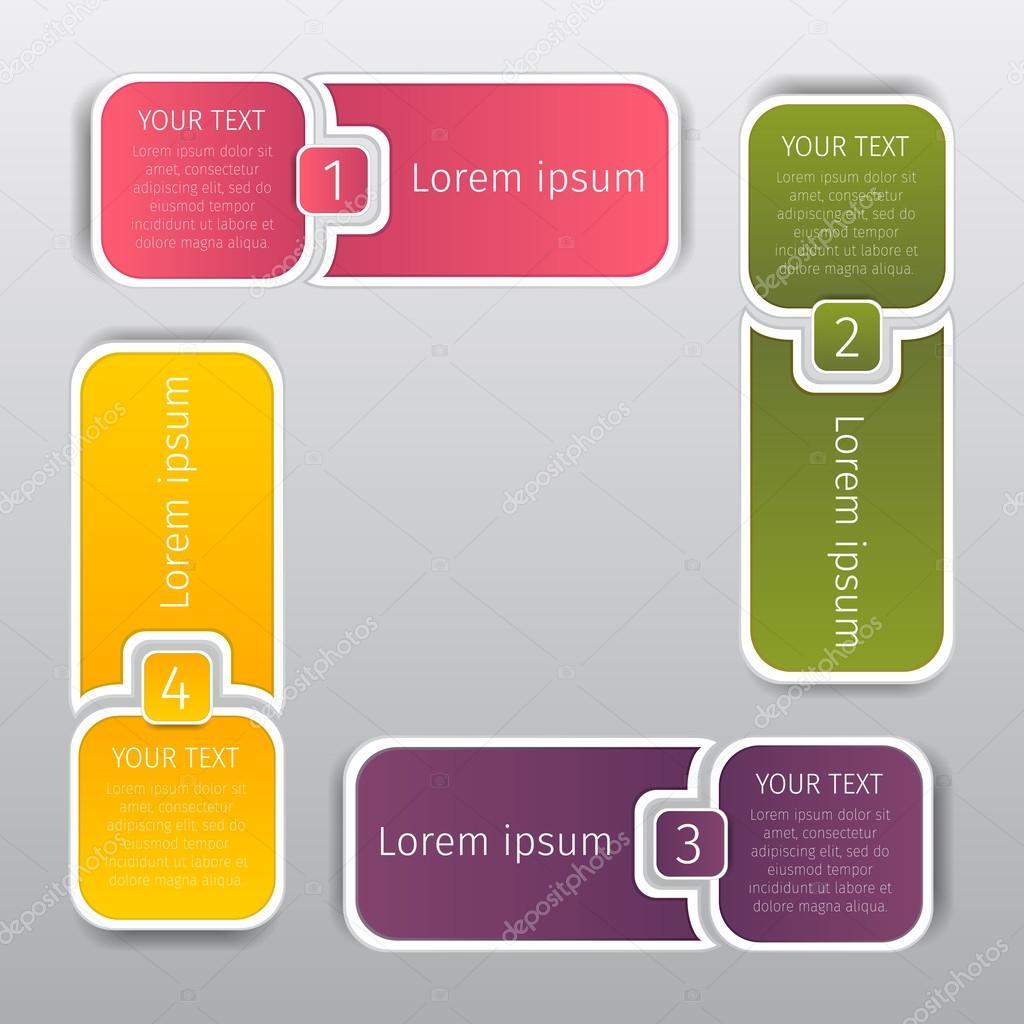 Plazas colorear banners de web gráfica de información con las ...