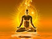 Meditation mit goldenem Licht