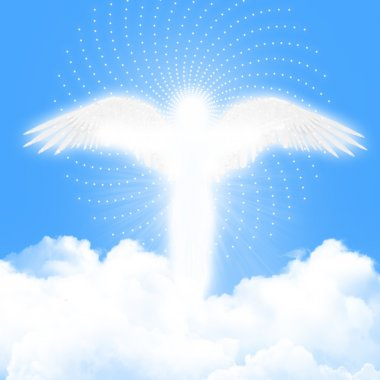 Angel in the blue sky