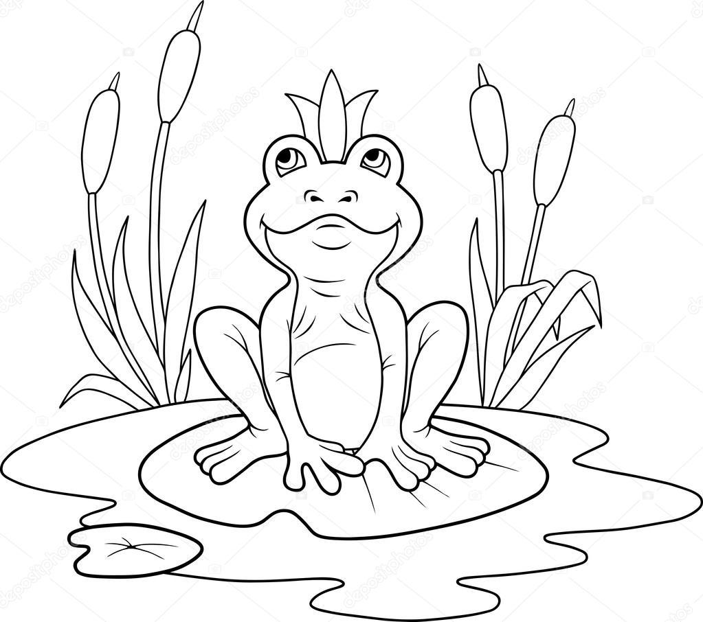 cute rana princesa — Vector de stock © Fargon #100790754