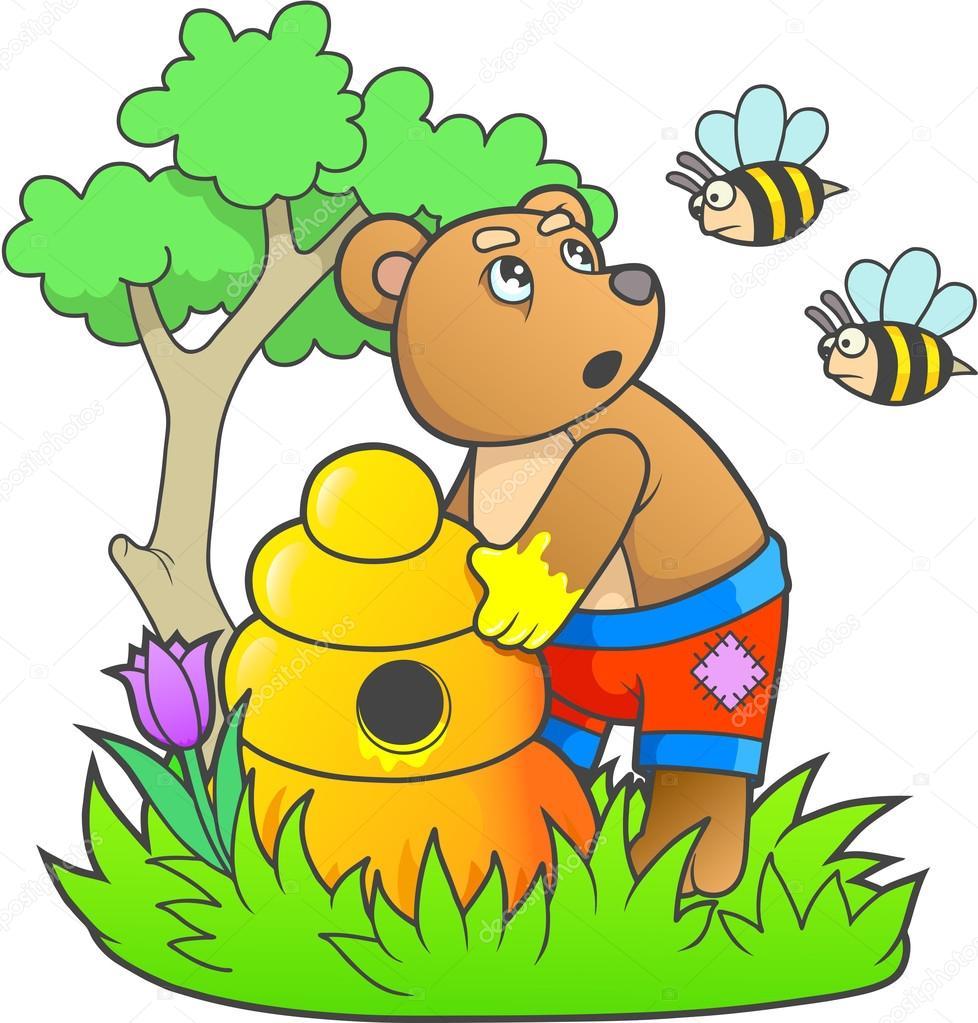 лет картинки к подвижной игре медведь и пчелы середину каждой ягодки