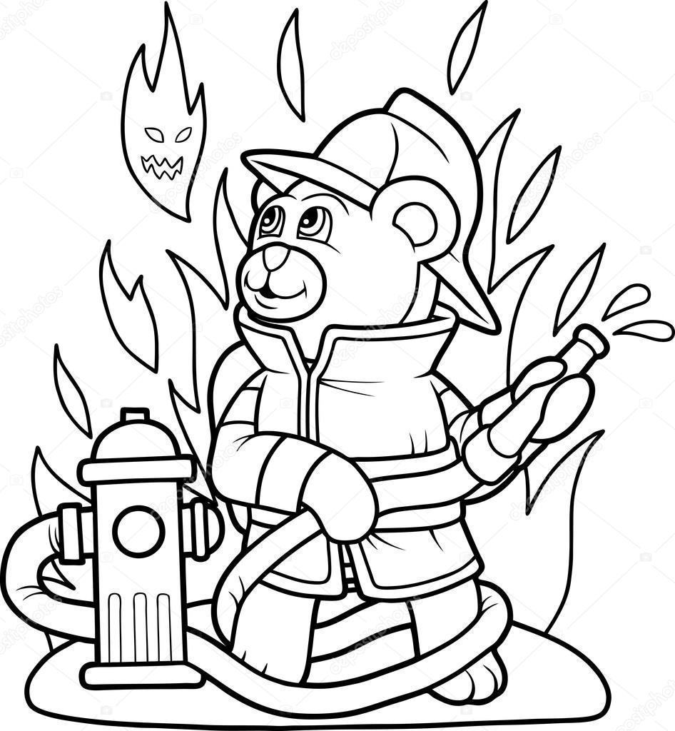 рисунок сказочные герои тушат пожар помощью узи можно