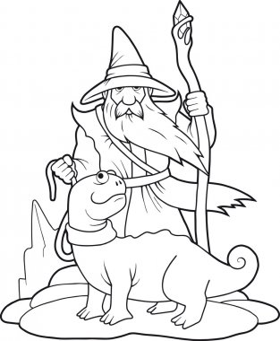 sorcerer and his pet
