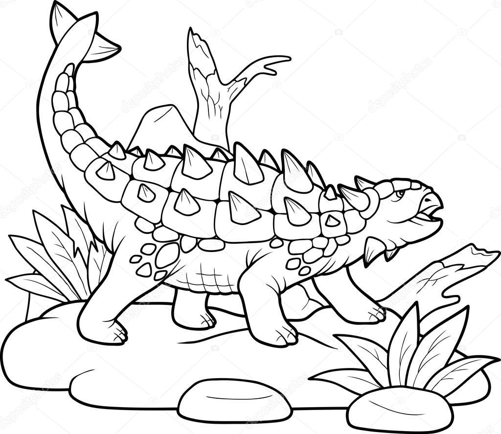 ankylosaurus preparing for battle — stock vector © fargon