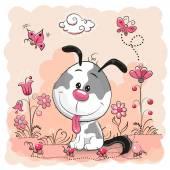Fotografia cucciolo simpatico cartone animato
