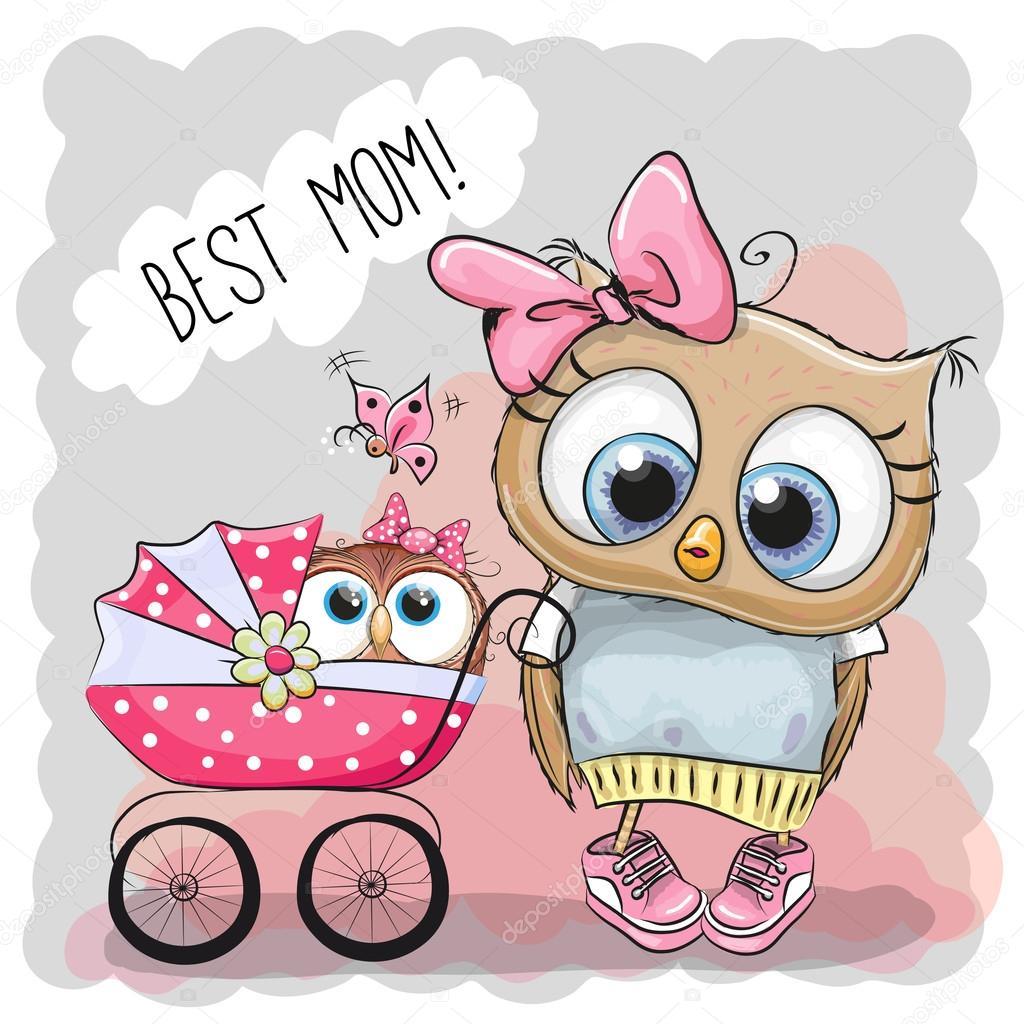 Лучшая мама поздравительных открыток с коляской