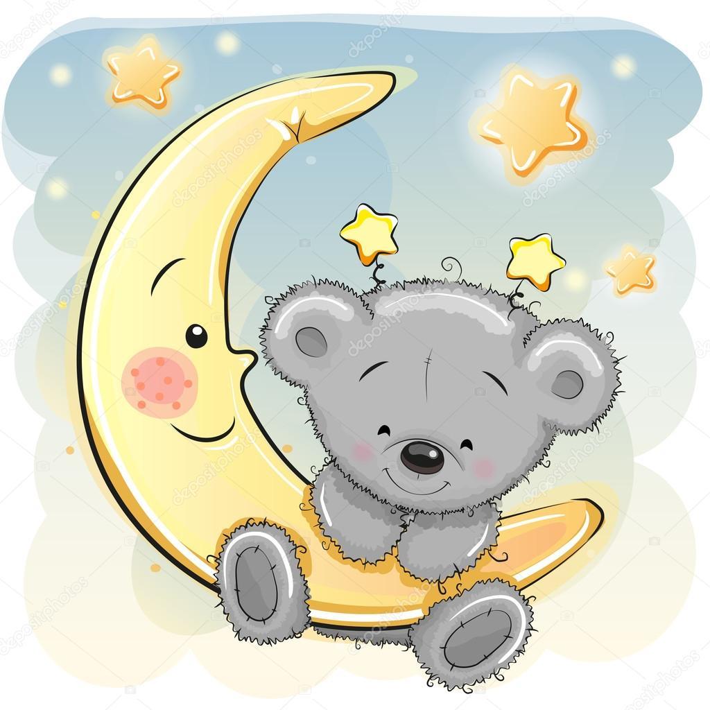 nounours sur la lune image vectorielle reginast777 teddy bear clipart girls teddy bear clip art black and white
