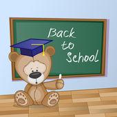 Cartoon Bear in classroom