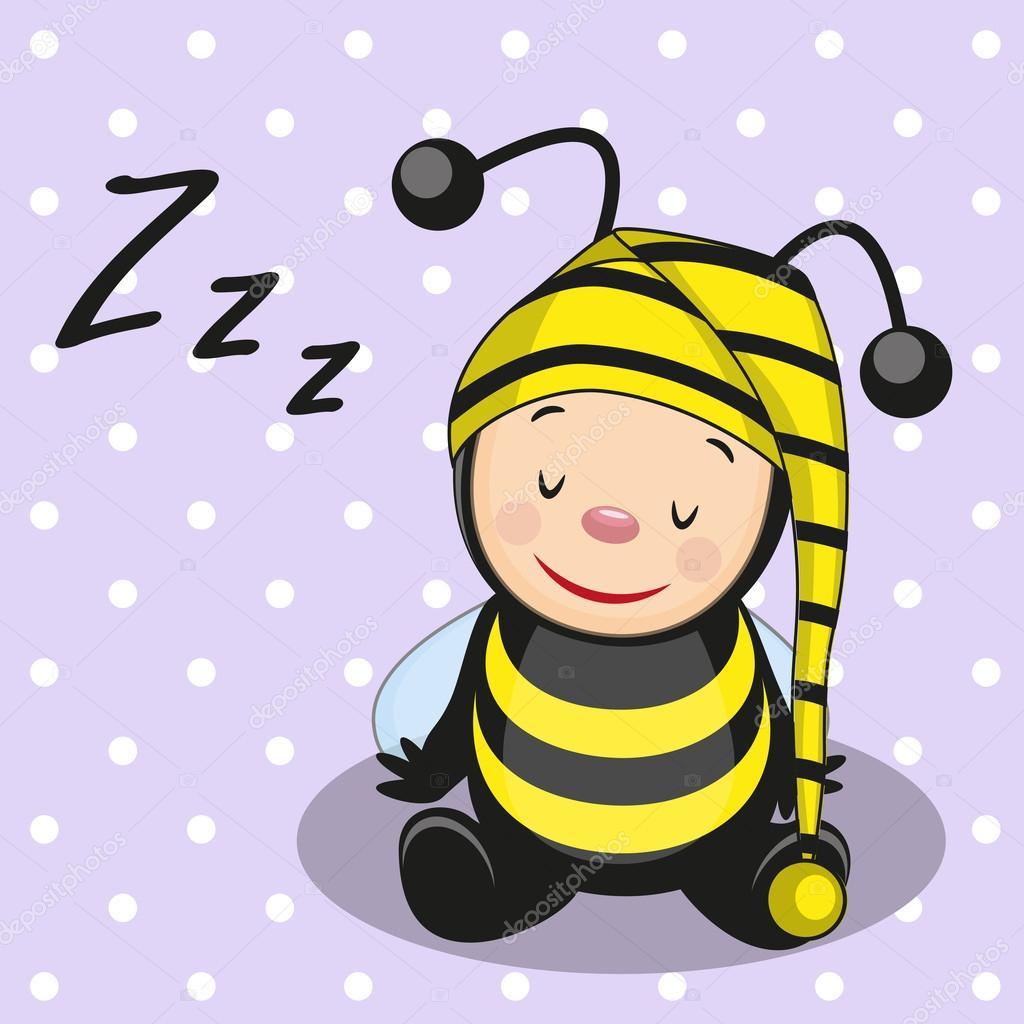 Пчелка спит картинка