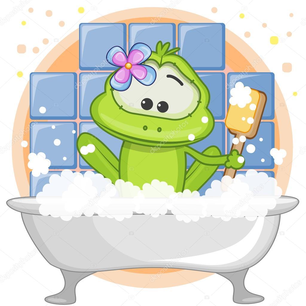 Лягушка в ванной картинки