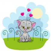 Cute  Cat with hearts