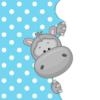 Hippo peeking out