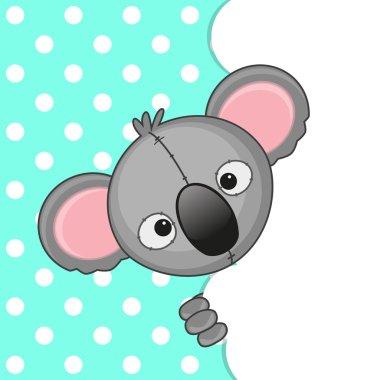 Koala peeking out