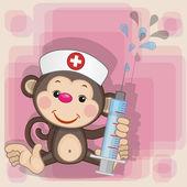 Fotografie Cute Monkey nurse