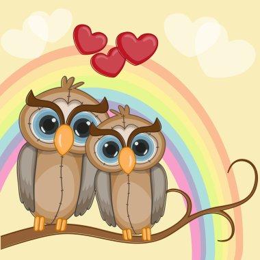 Cute Lovers Owls