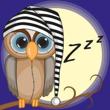 Cute Sleepy owl