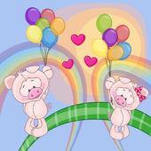 Roztomilý milovníky prasata