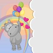 Hroch s balónky