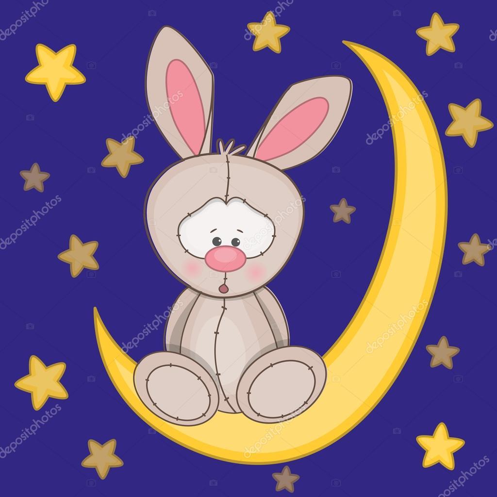 картинка лунный кролик спит на луне если надо узнать