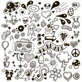 Set of hand drawing icons