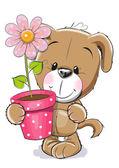 Fotografia Puppyy con il fiore