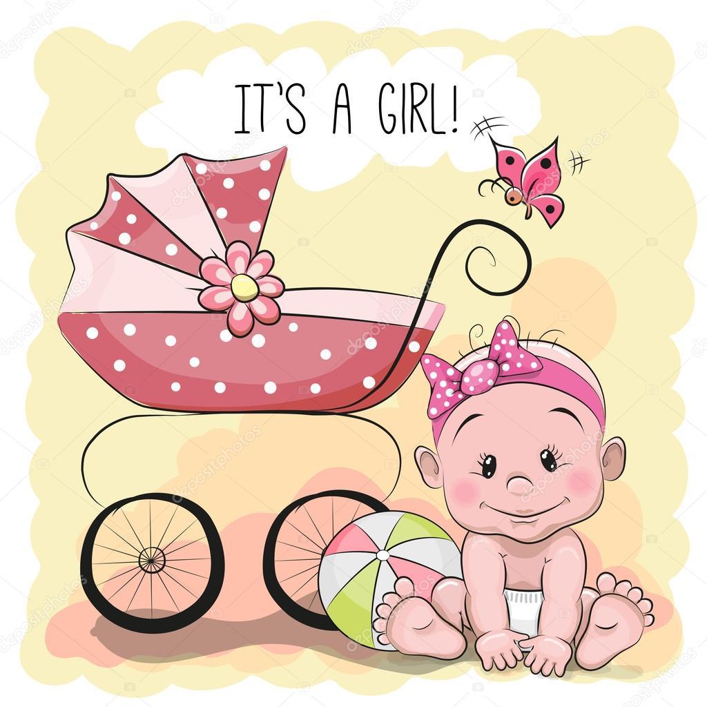 Pictures Baby Cartoon Girl Cute Cartoon Baby Girl Stock Vector C Reginast777 81662368