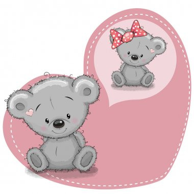 Two Bears on a heart