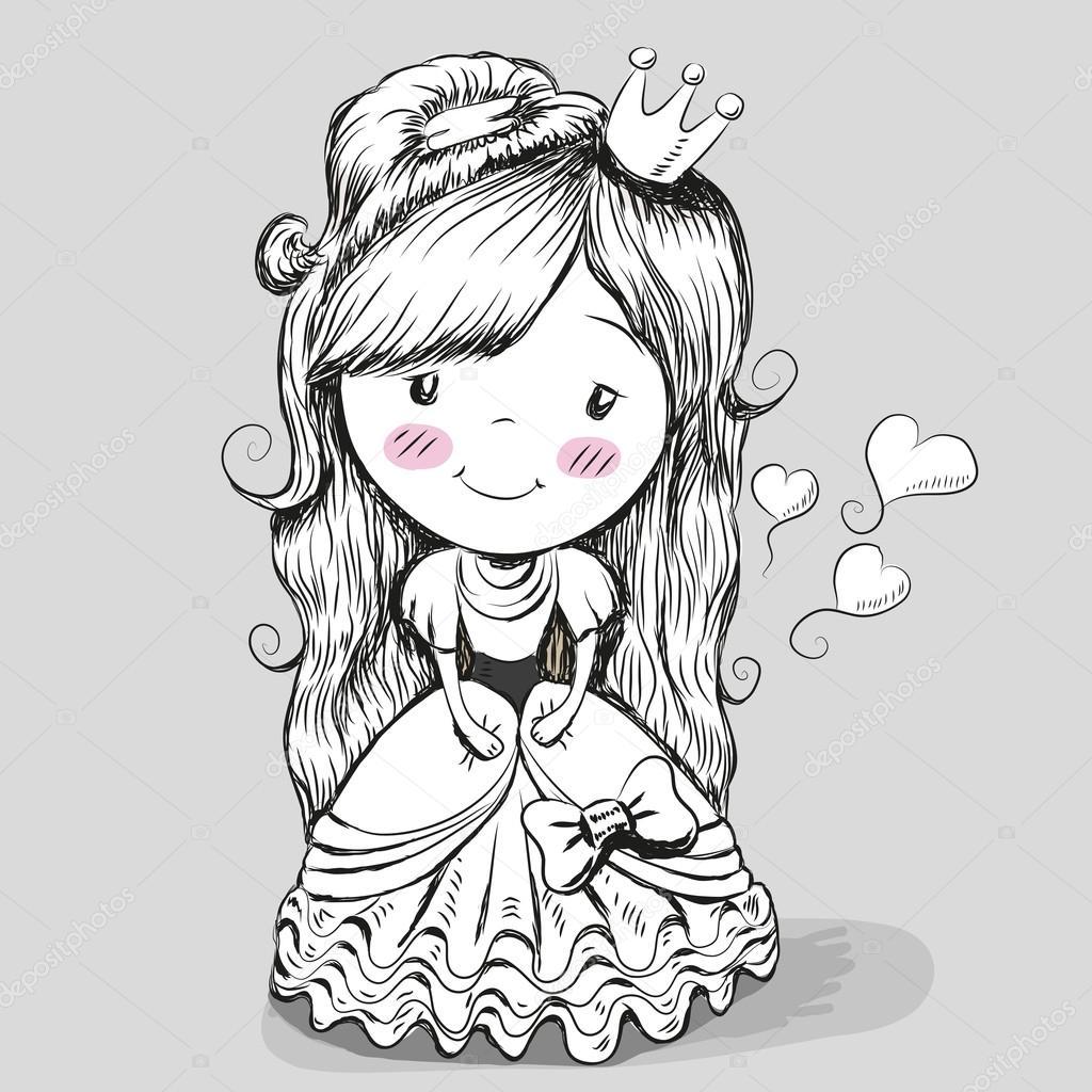 Joli Dessin Princesse Image Vectorielle Reginast777