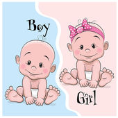 Photo Baby boy and girl