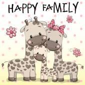 Fotografia Famiglia di tre giraffe