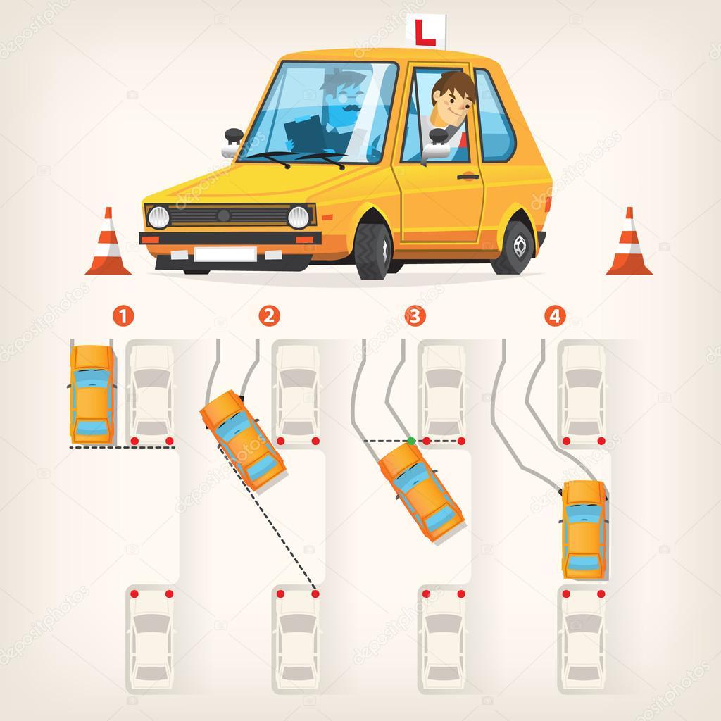 Parallel parking scheme — Stock Vector © snegok13 #113148570
