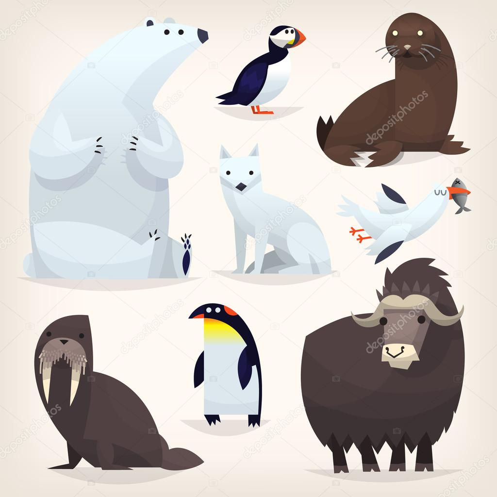 Arctic animals set