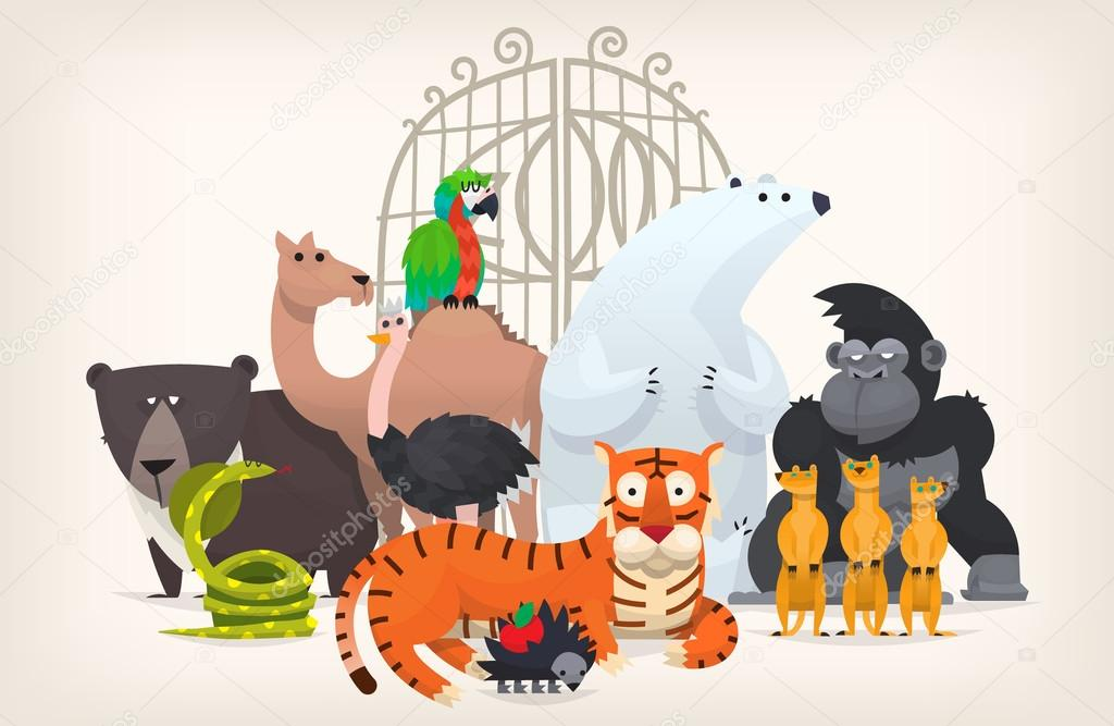 Animals near zoo gates