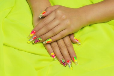 Beauty nails woman
