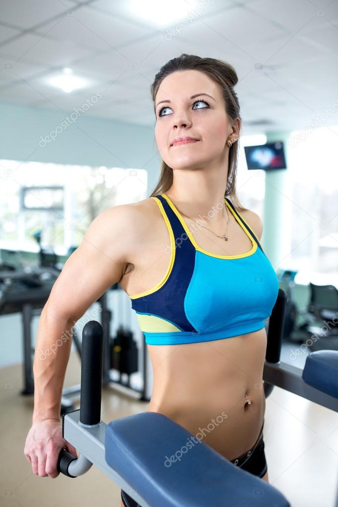 Athletic girl engaged in the gym — Stock Photo © OlgaOsa