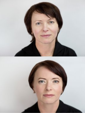 Before After Woman Make Up