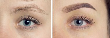 Perfect Eyebrows Before After Two photos
