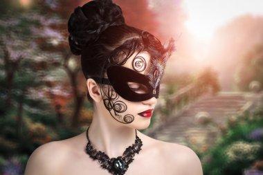 Woman black mask