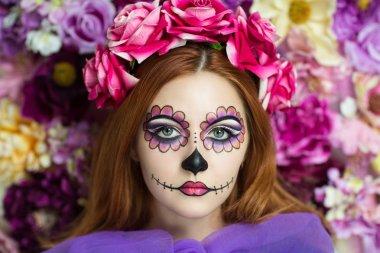 Woman zombie art Halloween