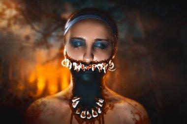 Monster woman Halloween