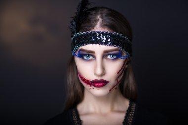 Retro zombie woman