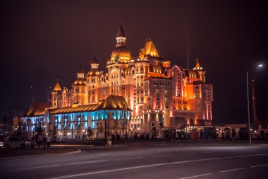 Bogatyr Hotel.Sochi. Night view.