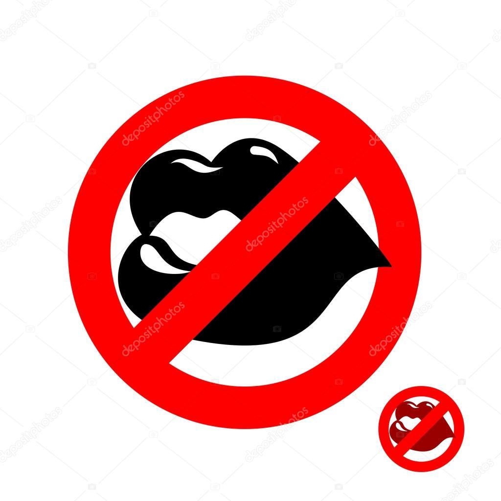 Stop Kiss Forbidden Kiss Frozen Juicy Womens Lips Emblem Agai